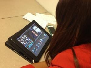 U-T student editing video